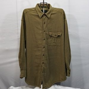 Orvis Mens Button Down Up Casual Long Sleeve XXL